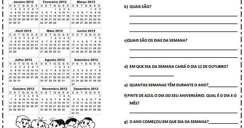23 09 B 1 Atividades Preparatórias 2 Ofertas: Blog Da Professora Edivania: CALENDÁRIO