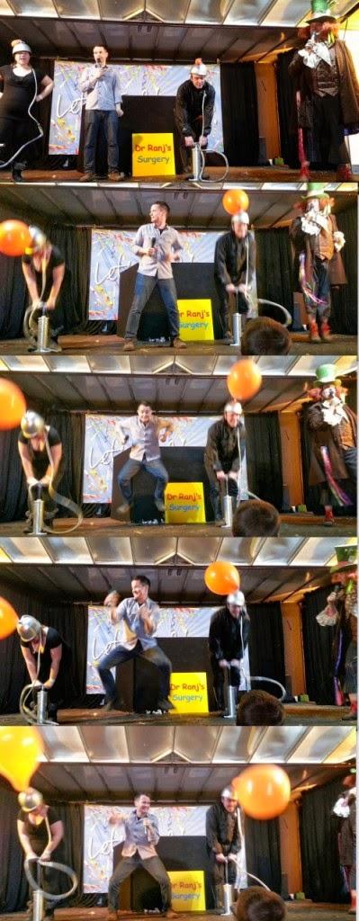 Alex Winters Little Fun Fest Red HOuse Farm Gunge Tank Mr Topper Balloon Pumping Contest