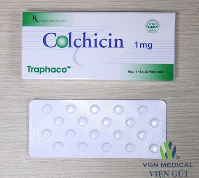 Thuốc colchicine bệnh nhân gút cần dùng khi nào ?