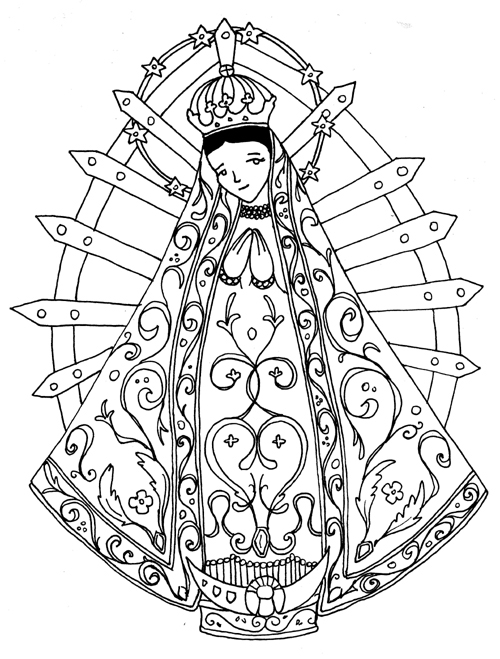 Colorear Virgen De Luján