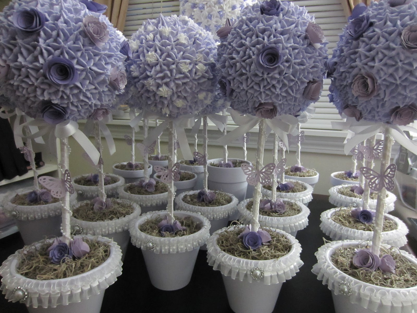 Endlesscreationbyjas Topiary Centerpiece Using Spackle