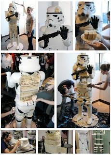 torta o pastel estilo star Wars
