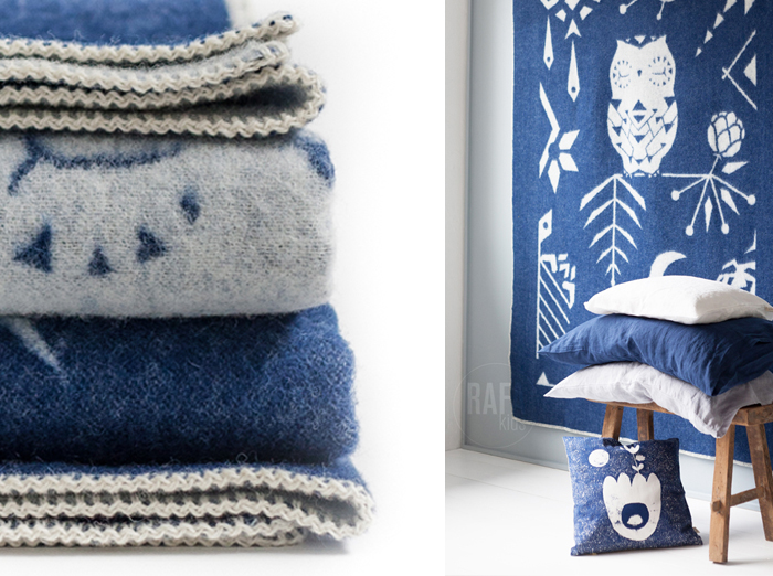 Rafa-kids wool blanket Owl on the Moon