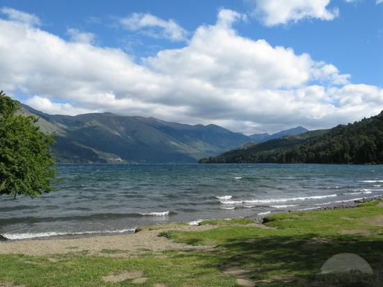 Praia Villa Los Coihues no Lago Gutiérrez em Bariloche