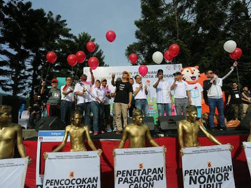 Sosialisasi KPU Kota Bandung di CFD