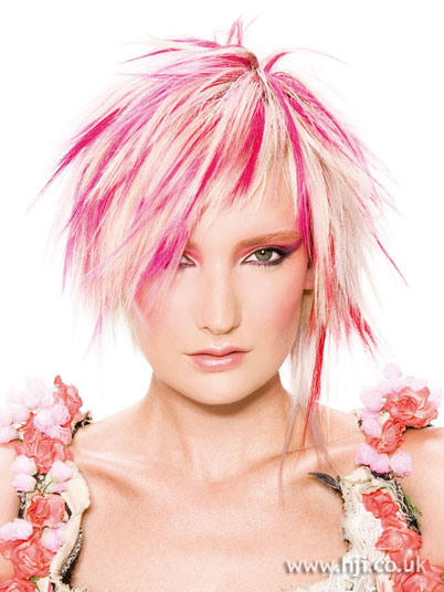 Cool Pink Hair Highlight Hairstyle For Girls ~ Prom Hairstyles
