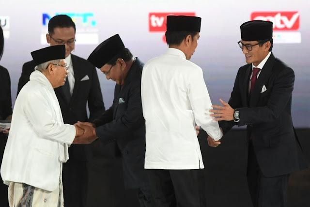 Quick Count Litbang Kompas Data 30 Persen: Jokowi-Ma'ruf 55,23 persen, Prabowo-Sandi 44,77 persen