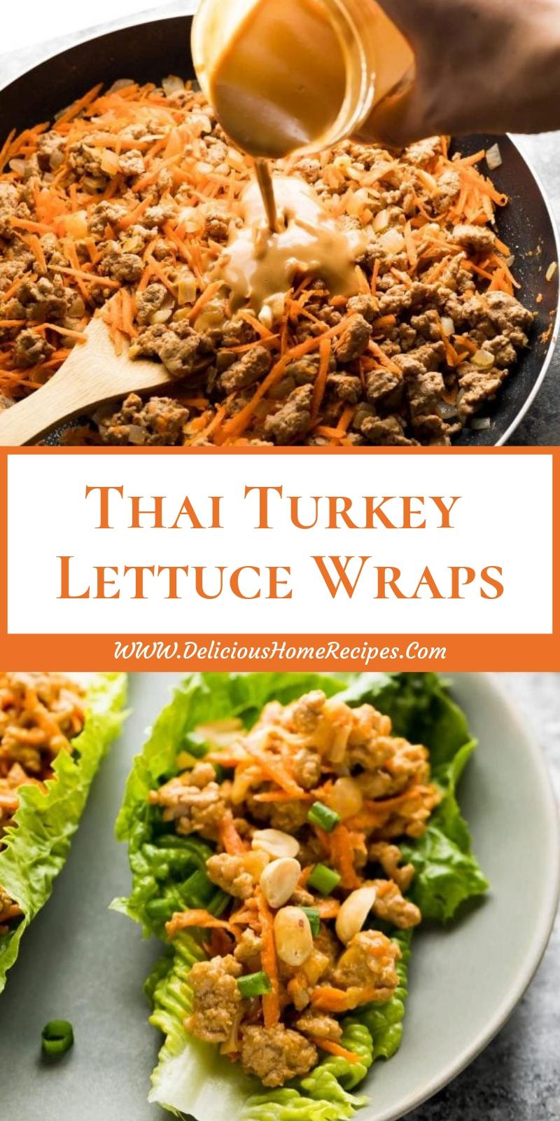 Thai Turkey Lettuce Wraps
