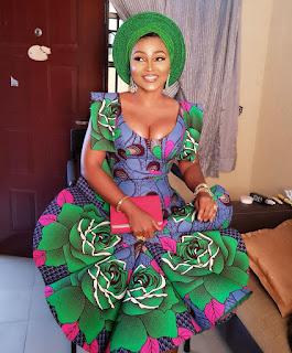 Mercy Aigbe aso ebi styles