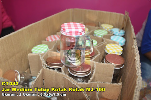 Jar Medium Tutup Kotak Kotak MJ-100