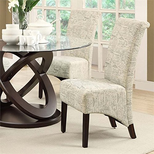 Dining Room Accent Pieces: French Script Chairs & Print Accent Furniture Pieces