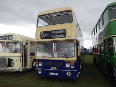 The WMPTE bus at the Llandudno Transport Festival.