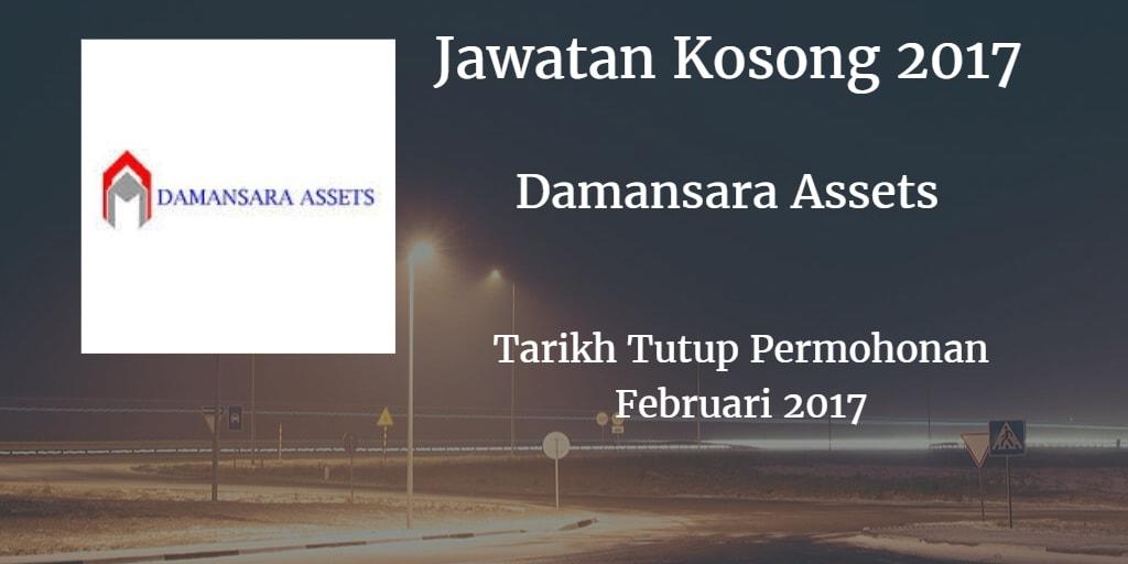 Jawatan Kosong Damansara Assets Sdn Bhd Februari 2017