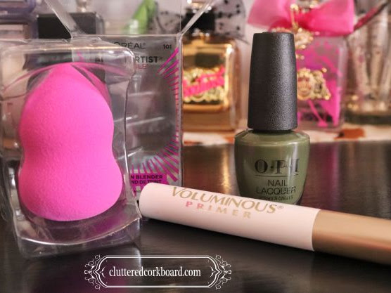 3 new beauty fave's inexpensive blender sponge and olive nailpolish