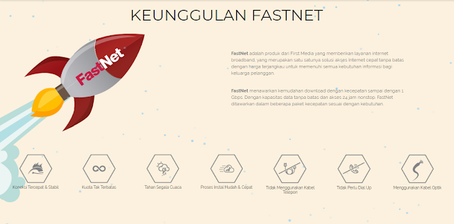 Keunggulan Internet First Media Fastnet