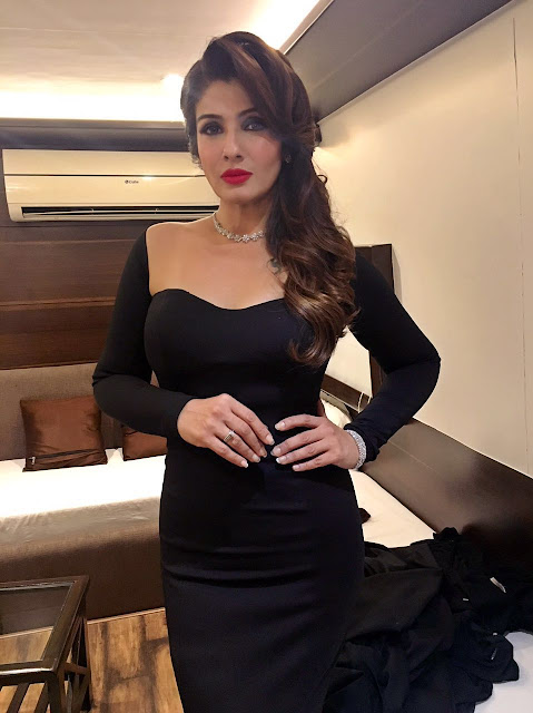 Spotted: Actress Raveena Tandon in Minawala Jewellery