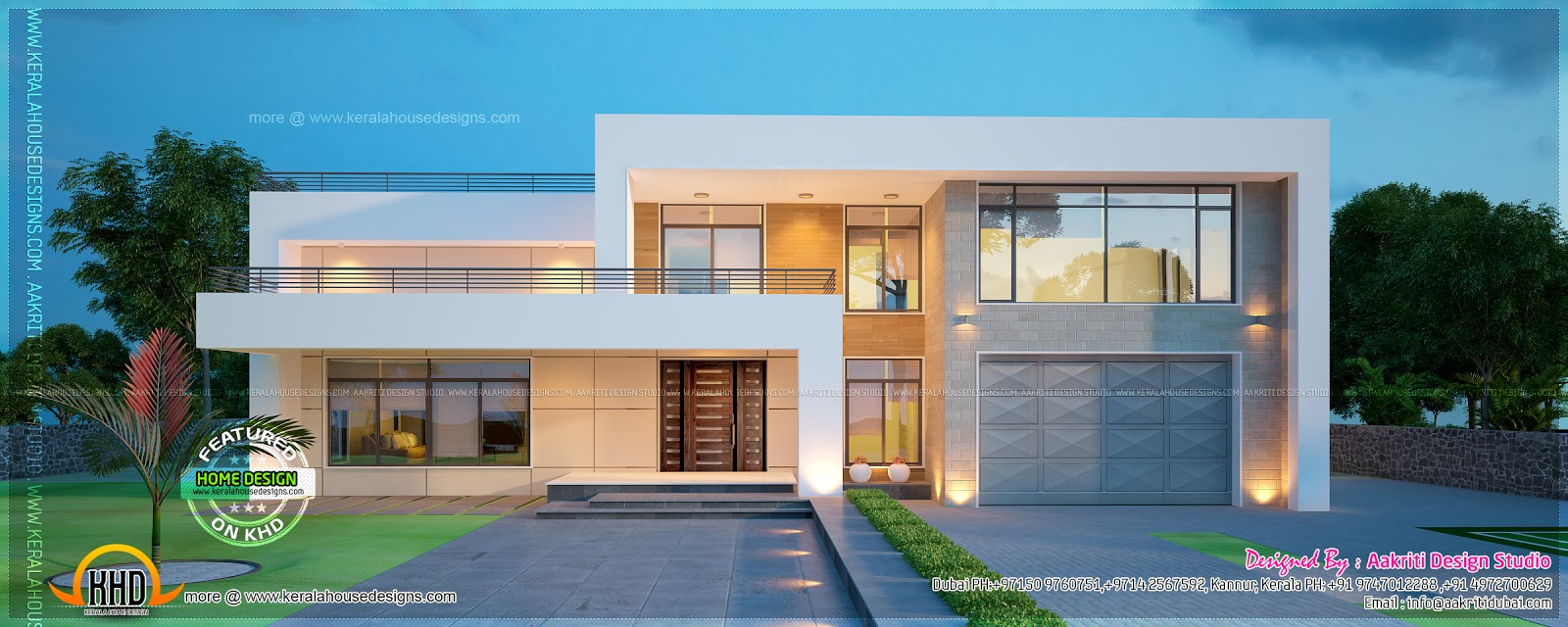 Design style modern contemporary new villa