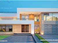 New modern villa exterior Indian House Plans