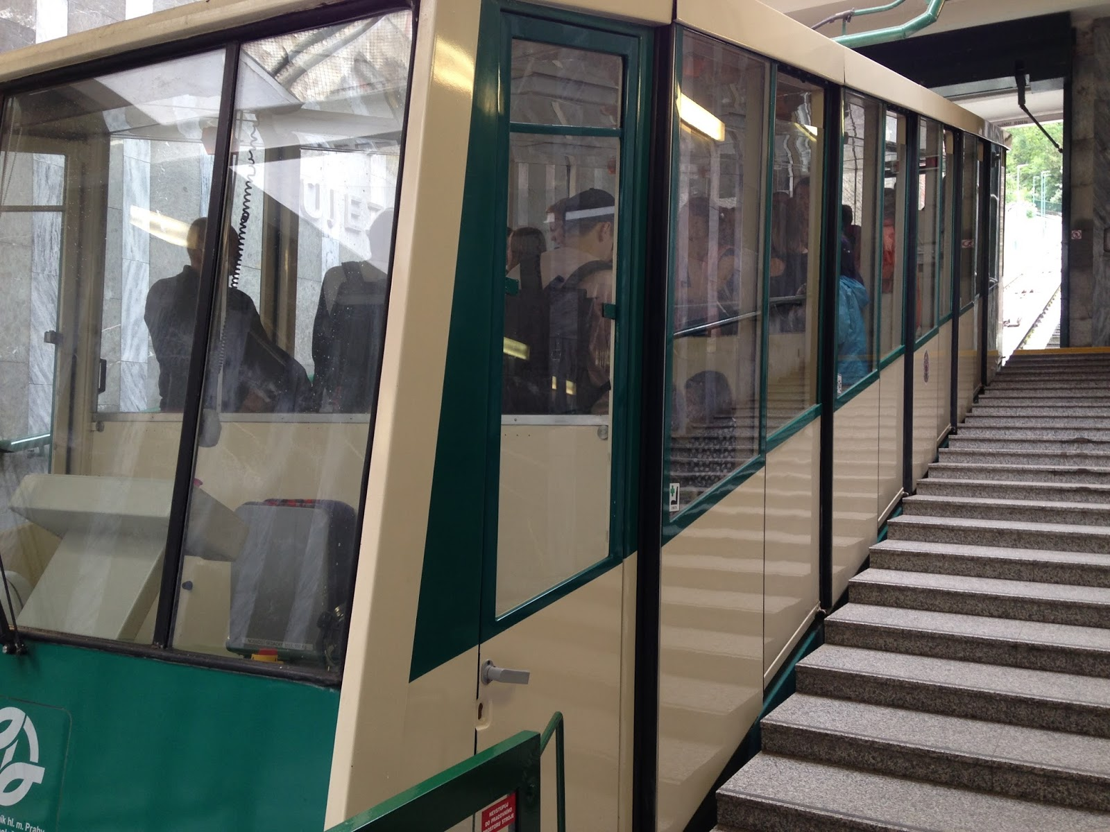 Funicular to Petrin Tower