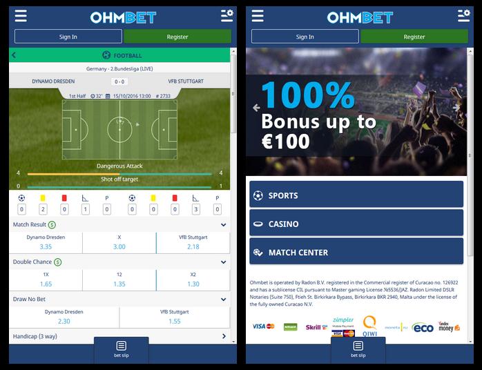 Ohmbet Screen