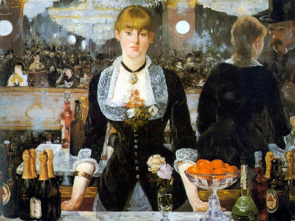 Um Bar no Folies-Bergère - Pinturas impressionistas pintadas por Édouard Manet