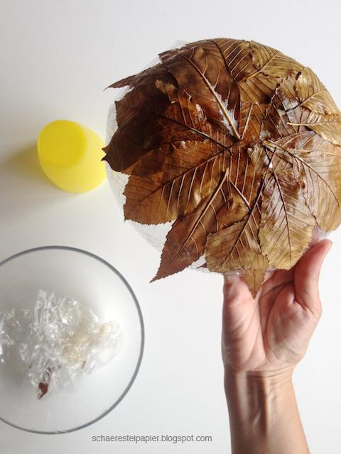 Schaeresteipapier Schale Aus Herbstblattern Diy
