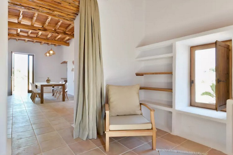 sala estar casa vacaciones Ibiza