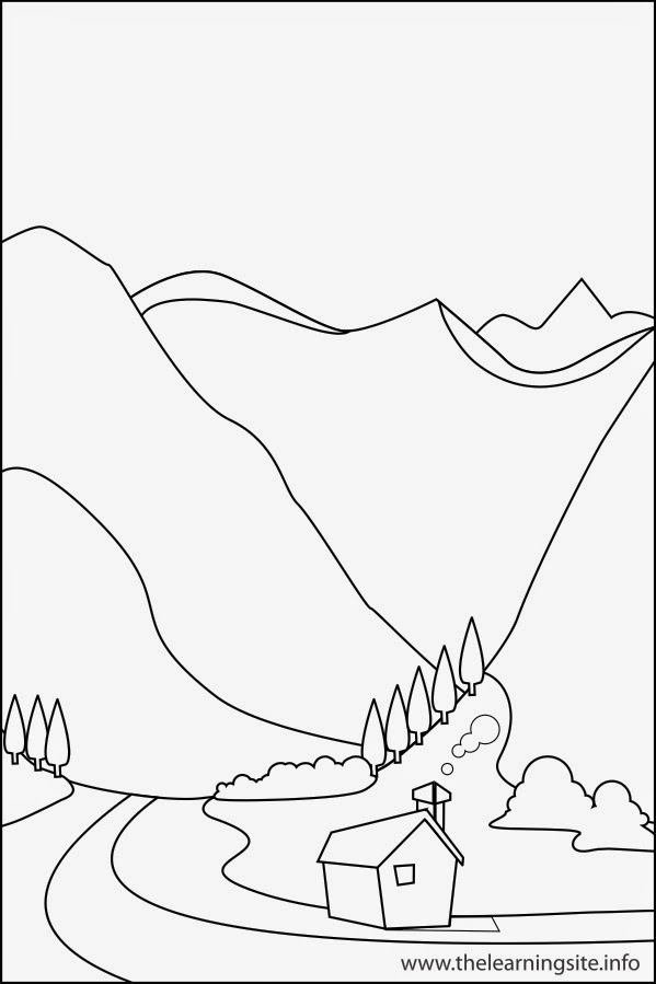 Landforms Coloring Activity Best Photos Of Land Water Printable