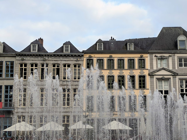 What to do in Mons Belgium in One Day: Grand Place de Mons fountain