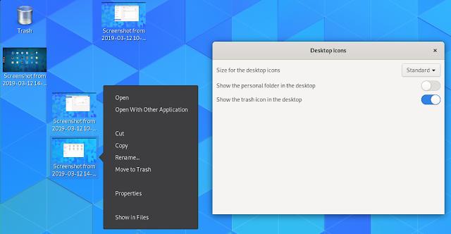 GNOME Desktop icons