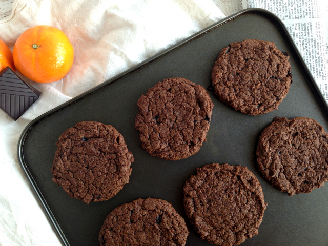 Chewy Chocolate Orange Cookies - Delicious festive vegan cookies, perfect festive crowd pleaser.