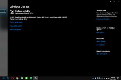 Update Baru Windows 10 October Update di Insider