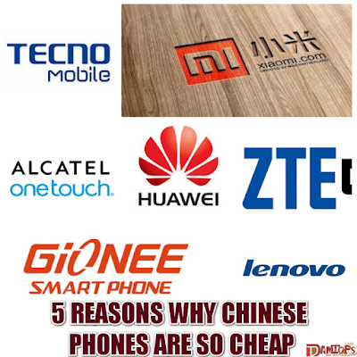 Reasons why Chinese phones are cheap