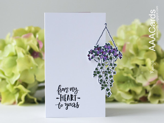 Die Cutting on The Edge for Clean And Simple Card