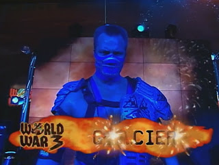 WCW World War 3 1998 - Glacier gets set for a match against Wrath