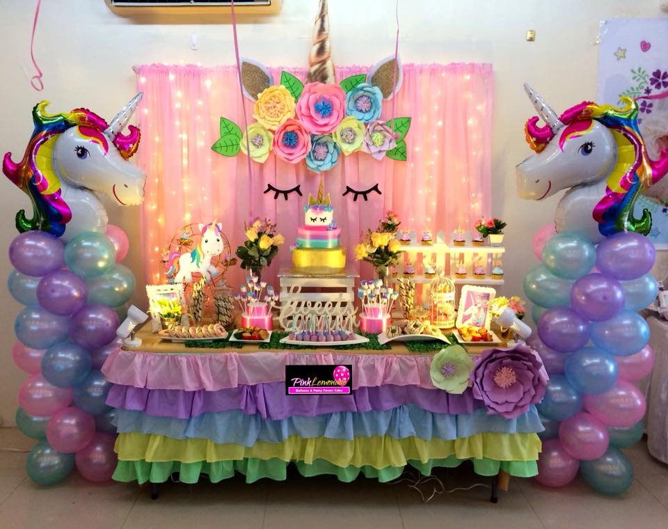 Remarkable Pink Lemonade Balloons And Party Favors Cebu Unicorn Themed Interior Design Ideas Clesiryabchikinfo
