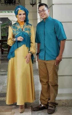 Model Baju Pesta Muslim Couple brokat