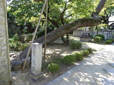 小楠公御墓所 百度石