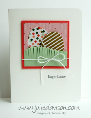 Stampin' Up! Easter Card CASE: Fringe Scissors + Extra Large Oval Punch #stampinup #easter
