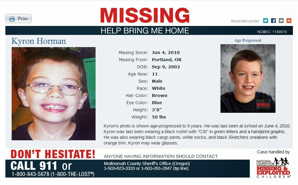Amber Alerts and Missing Children Cases Updates: Kyron ...
