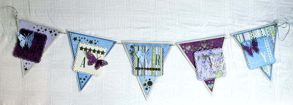 Party Banner Home Decor by Ulrika Wandler using BoBunny Secret Garden Collection