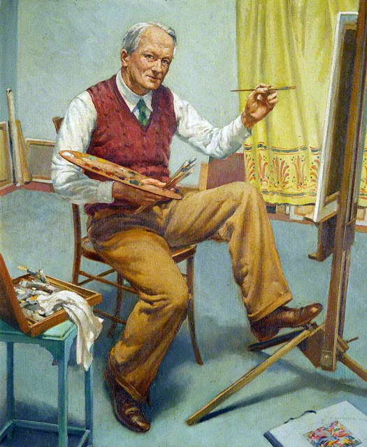 Walter Ashworth, Self Portrait, Portraits of Painters, Fine arts, Portraits of painters blog, Paintings of Walter Ashworth, Painter  Walter Ashworth
