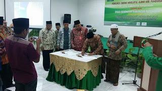 MoU PC. LKNU dan Dinas Kesehatan Kabupaten Pamekasan