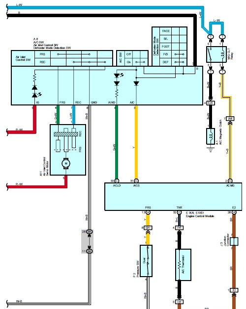 Wiring Diagrams  2004 Toyota Corolla Air Conditioning System Wiring Diagram