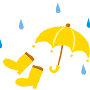 梅雨のイラスト「傘と長ぐつ」