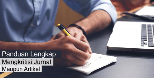 Panduan mengkritisi jurnal