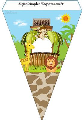 Banderinas de Safari Bebés para imprimir gratis.