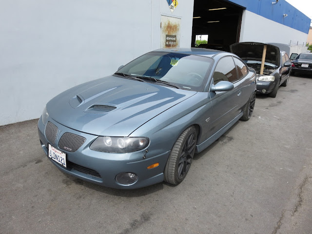 "Pontiac GTO repainted ""Cyclone Grey"" at Almost Everything Auto Body"