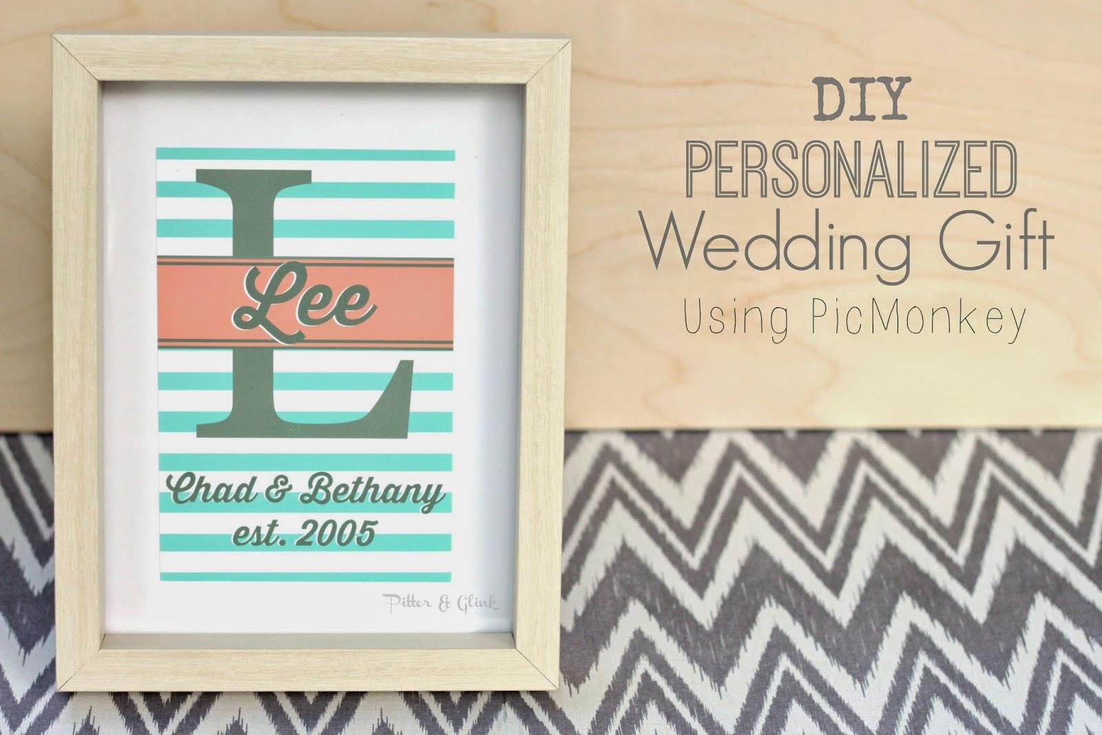 diy personalized wedding gift using custom wedding gifts Create an inexpensive personalized wedding gift using PicMonkey and digital scrapbook paper pitterandglink