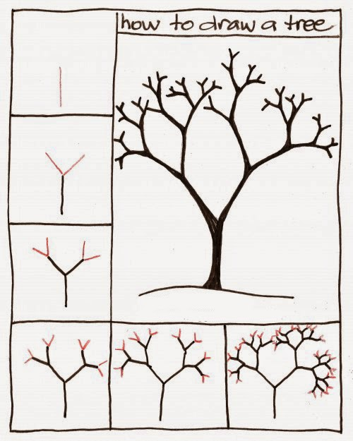 How to draw a tree step by step for kids